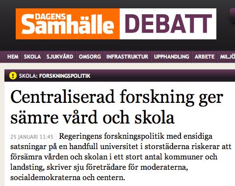 Svensk forskningspolitik
